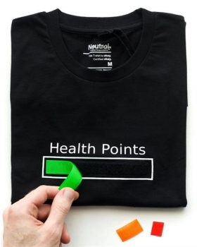 "Fun-Shirt ""Health Points""/Grösse L"