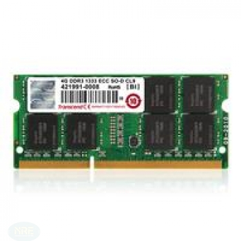 Transcend 4GB DDR3 1333 ECC-SO-DIMM 2RX8