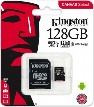 Kingston Canvas Select microSDXC 128GB Kit