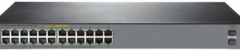 HP OfficeConnect 1920S 24G Rackmount Gigabit Smart Switch, 24x RJ-45, 2x SFP, 370W PoE+ (JL385A)