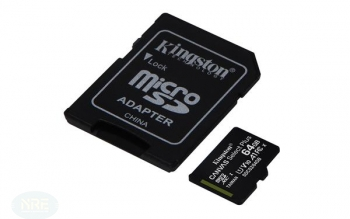 Kingston Canvas Select Plus R100 microSDHC 64GB Kit, UHS-I U1, A1, Class 10