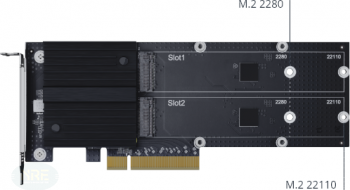 Synology M2D20 Dual-Slot M.2 SSD Adapter Card/PCIe 3.0 x8/2xM.2