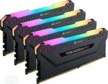 Corsair Vengeance RGB PRO schwarz DIMM Kit 64GB, DDR4-3600/Kit 4x16GB