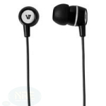V7 EARBUDS WITH INLINE MIC BLK